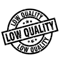 Low quality round grunge black stamp vector
