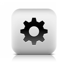 Media player icon with cog settings sign vector