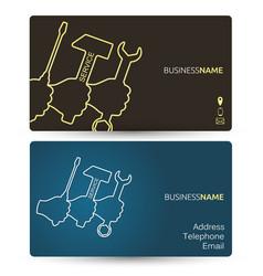 Repair business card vector