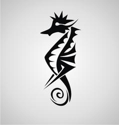 Seahorse Tribal vector image