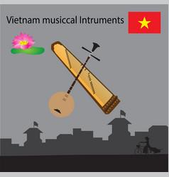 Vietnam musical instruments vector