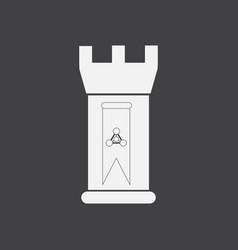 White icon on black background energy university vector