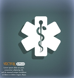Medicine icon On the blue-green abstract vector image