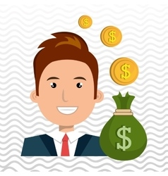 Man bag money currency vector