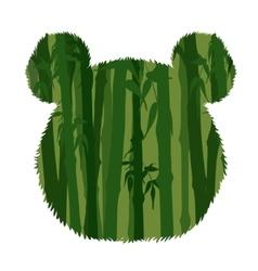 Panda head silhouette vector