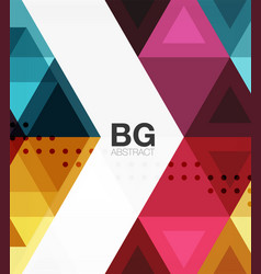 Modern geometry background vector