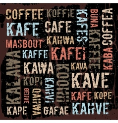 Poster decorative panels labeled coffee in vector