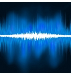 sound waves oscillating glow light vector image