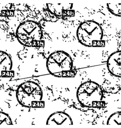 24h clock pattern grunge monochrome vector