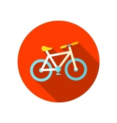 Bicycle flat icon with long shadow vector