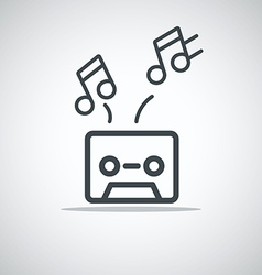 Modern media web icon audio cassette vector