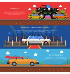 Cars banners set vector
