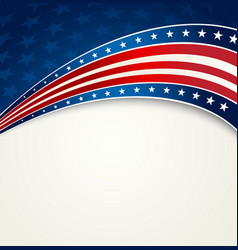 American flag patriotic background vector