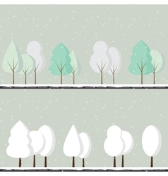 Cartoon winter trees vector
