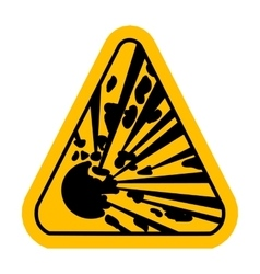 Explosive hazard sign vector