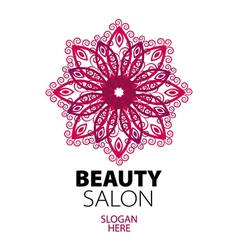 Composition of green leaf logo for beauty salon vector image for Abstract beauty salon