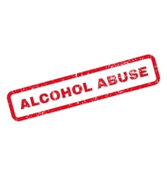 Alcohol abuse text rubber stamp vector