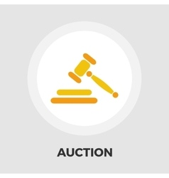 Auction flat icon vector image vector image