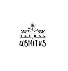 Badge as part of the design - cosmetics logo vector