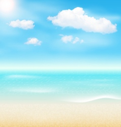 Beach seaside sea shore clouds summer holiday vector