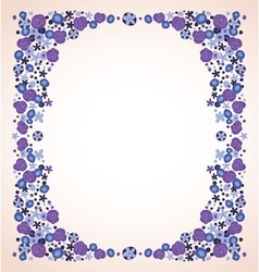 Blue violet flowers frame isolated vector