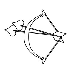 Bow and arrow heart cartoon love icon image vector