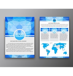 Brochure design with polygonal background vector