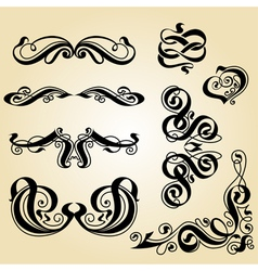 Calligraphy ornament set 1 vector