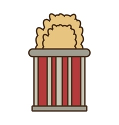 cartoon bucket pop corn cinema vector image