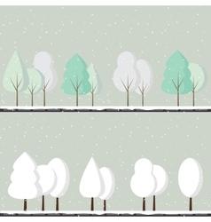 Cartoon winter trees vector image