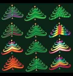 christmas decorative tree symbol design vector image vector image