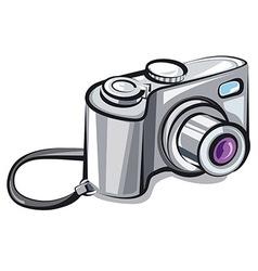 compact camera vector image