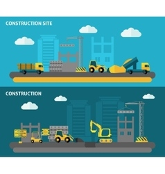Construction banner set vector
