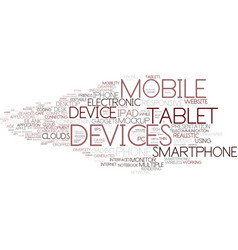 Devices word cloud concept vector