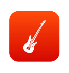 electric guitar icon digital red vector image