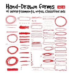 Hand-drawn forms vector image vector image