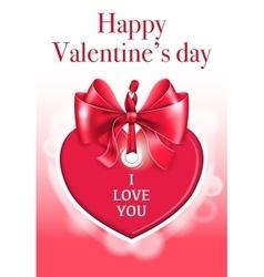 Holiday heart shaped card vector image vector image