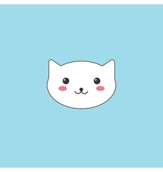 Kawaii muzzle cute cat vector