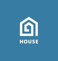 Letter a real estate house logo icon design vector
