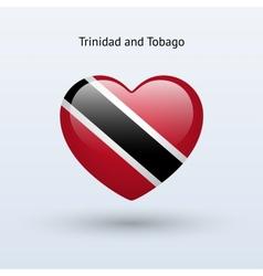 Love trinidad and tobago symbol heart flag icon vector