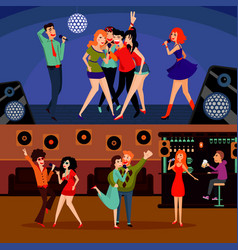musical entertainment horizontal banners vector image vector image