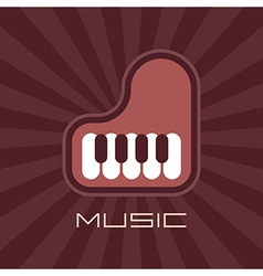 Piano on rays background vector