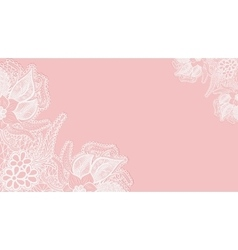 Pink lace background Template greeting card or vector image vector image