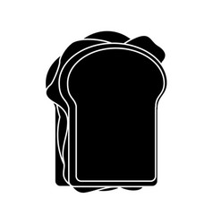 sandwich tasty food pictogram vector image