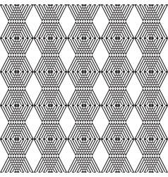 Seamless black and white cubes vector