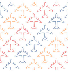 Seamless pattern with colour contours of vector