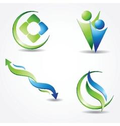Set off Green ecological banner vector image
