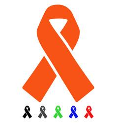 Solidarity ribbon flat icon vector
