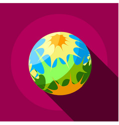 Splash planet icon flat style vector