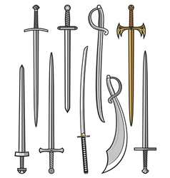 swords collection vector image vector image
